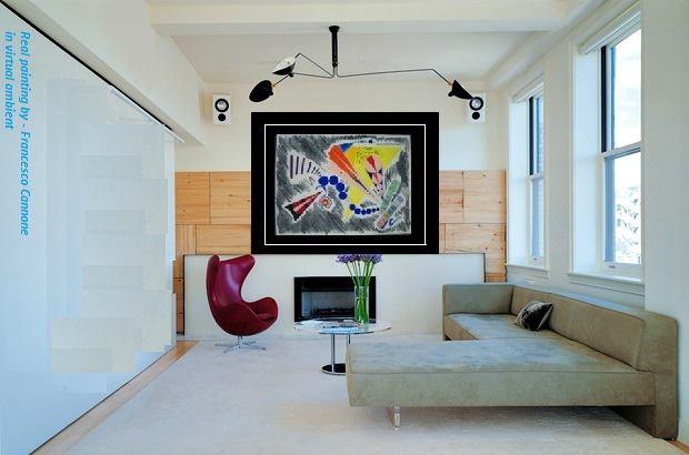 Acquerello appartenente ad una produzione realizzata negli anni 90  - opera di Francesco Cannone in ambiente virtuale