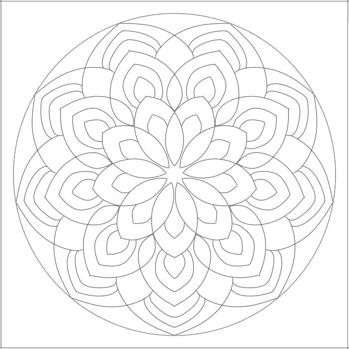 曼荼羅塗り絵無料