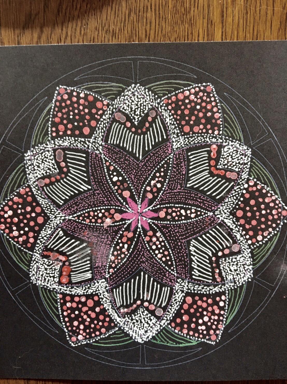 点描曼荼羅アートの作品