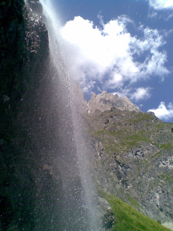 Imposanter Wasserfall im Riedingtal