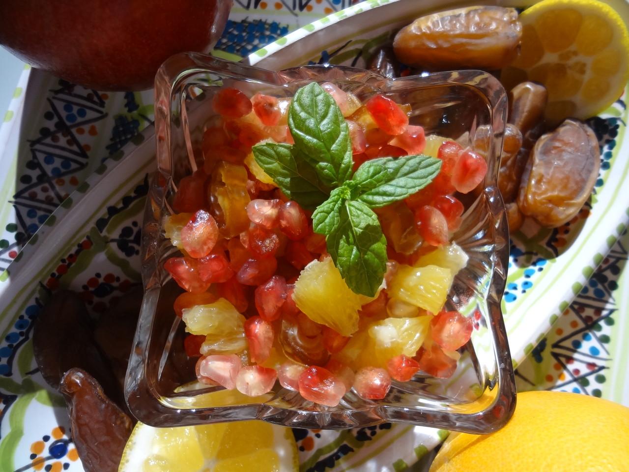 Tunesischer Obsalat