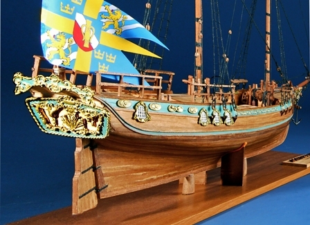 35-25 アンフィオン AMPHION   年代  1778    船籍  スエーデン  縮尺 1/40    キット コーレル COREL    坪井 浩一  Kooichi Tsuboi