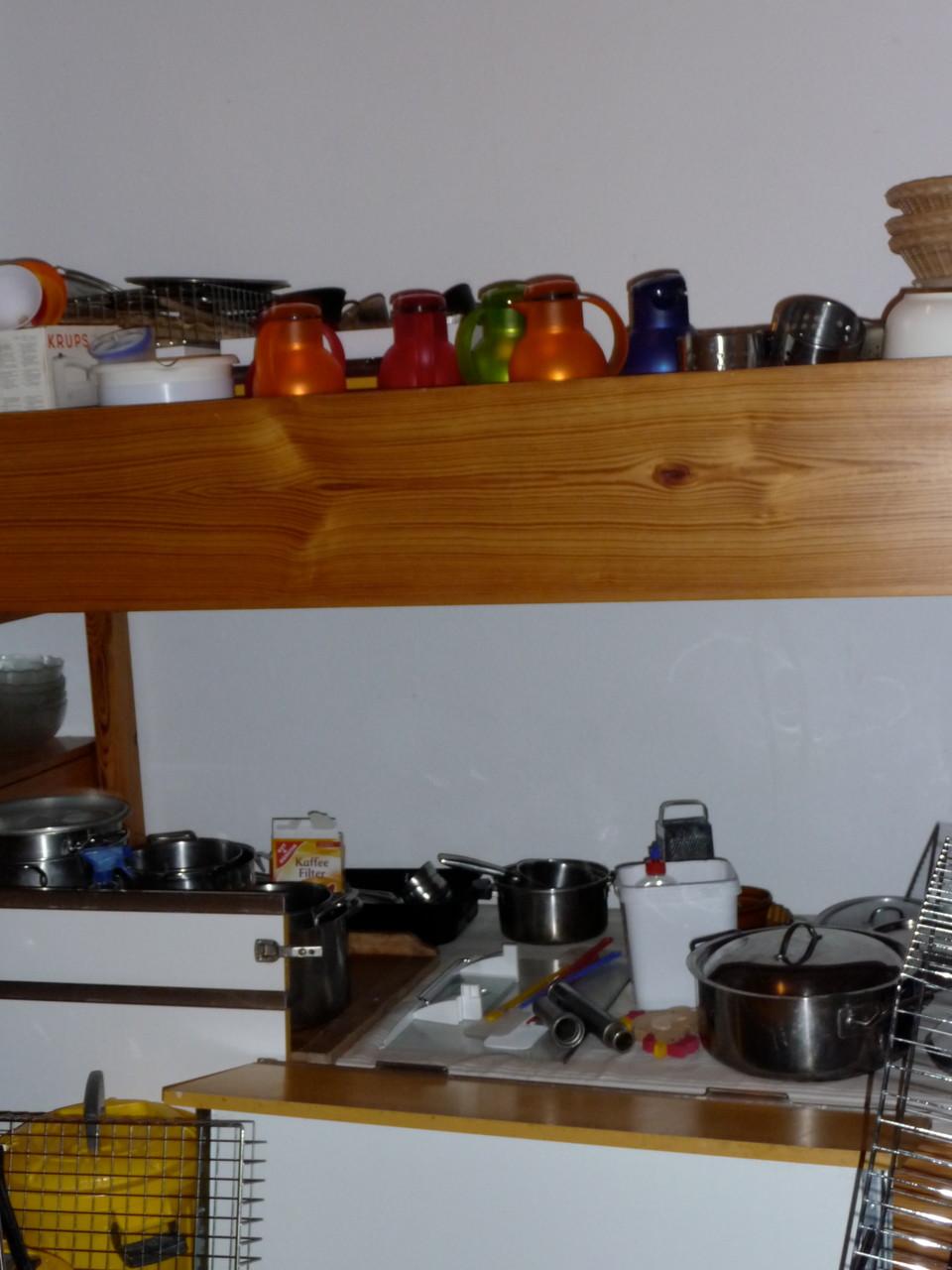 Zwischenlagerung der Küchenutensilien!