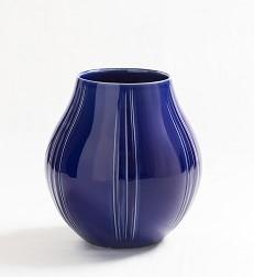 瑠璃釉壺 26・9×高28