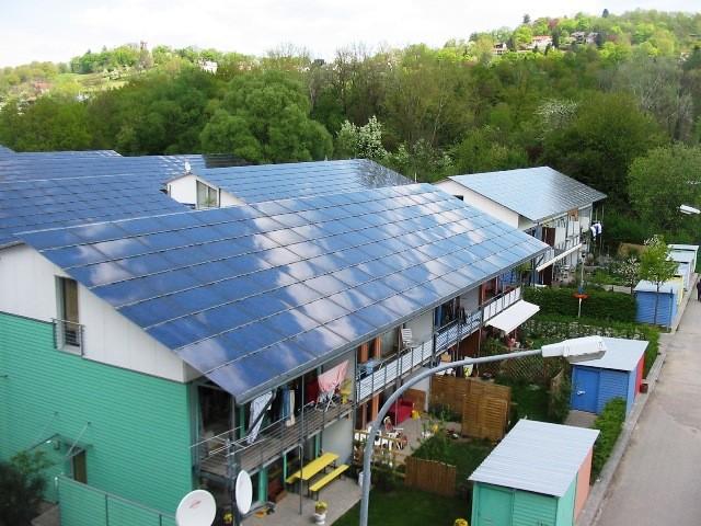 ヴォーバン住宅地の一角、ソーラーエネルギープラス住宅