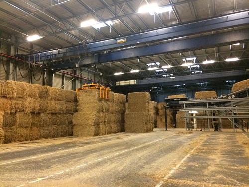 デンマークの地域熱では藁を燃料にしていました