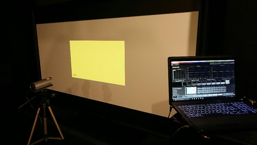Kalibrierung Projektor TV Beamer