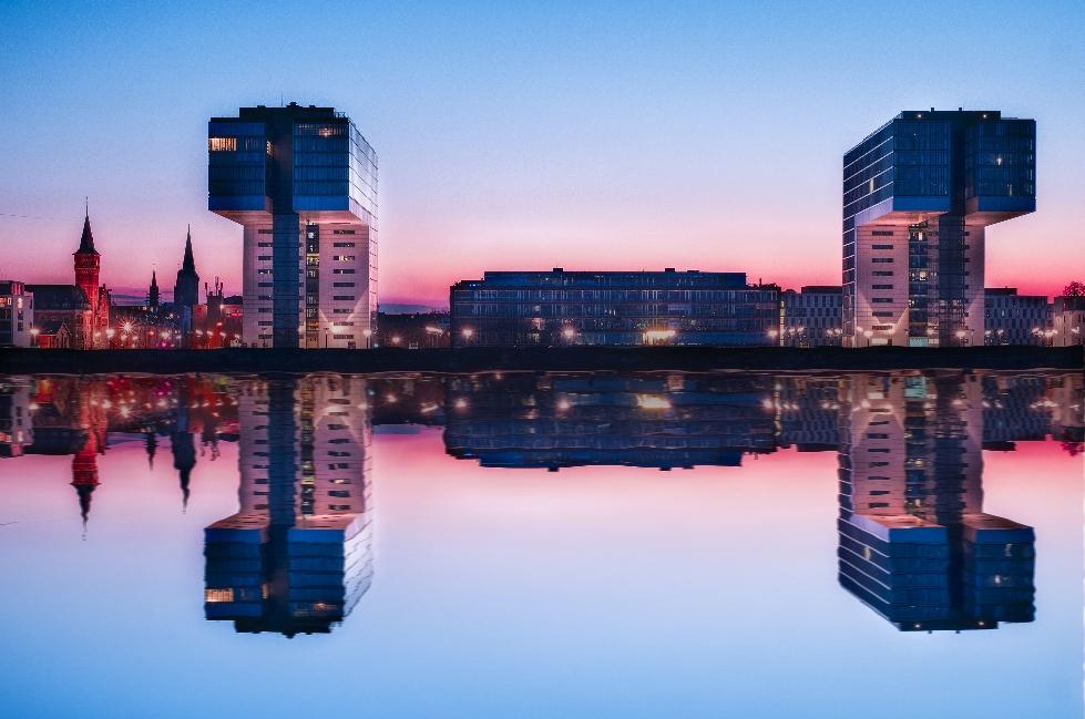 Moderne Architektur am Rheinauhafen