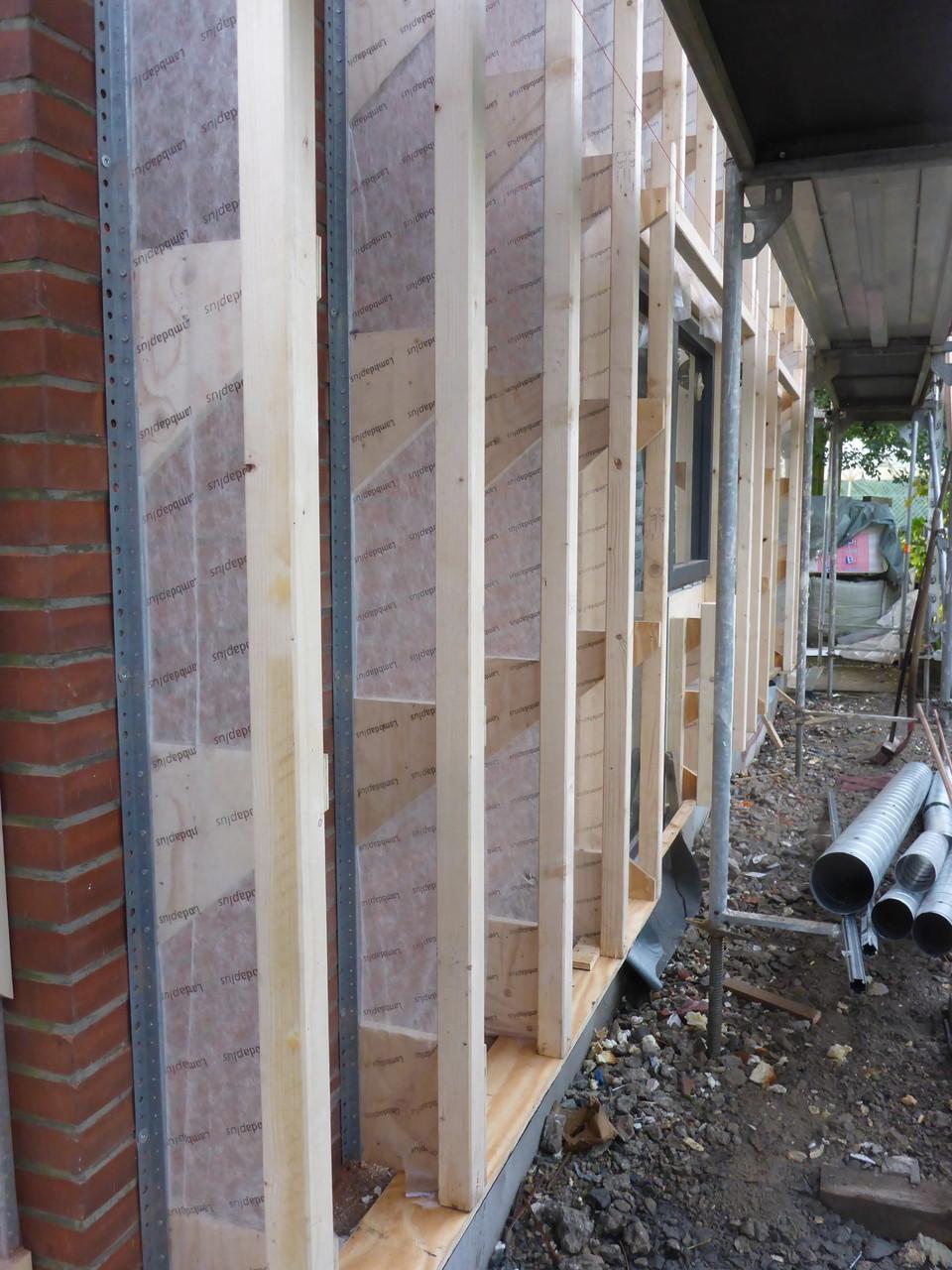 das Lambda Plus System zur Fassadendämmung (geringerer Holzanteil in der Dämmebene)