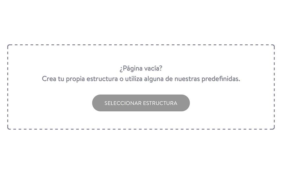 """Haz clic en el botón """"Seleccionar estructura"""" en una nueva subpágina."""