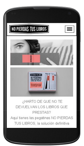 Ejemplo: www.nopierdastuslibros.com