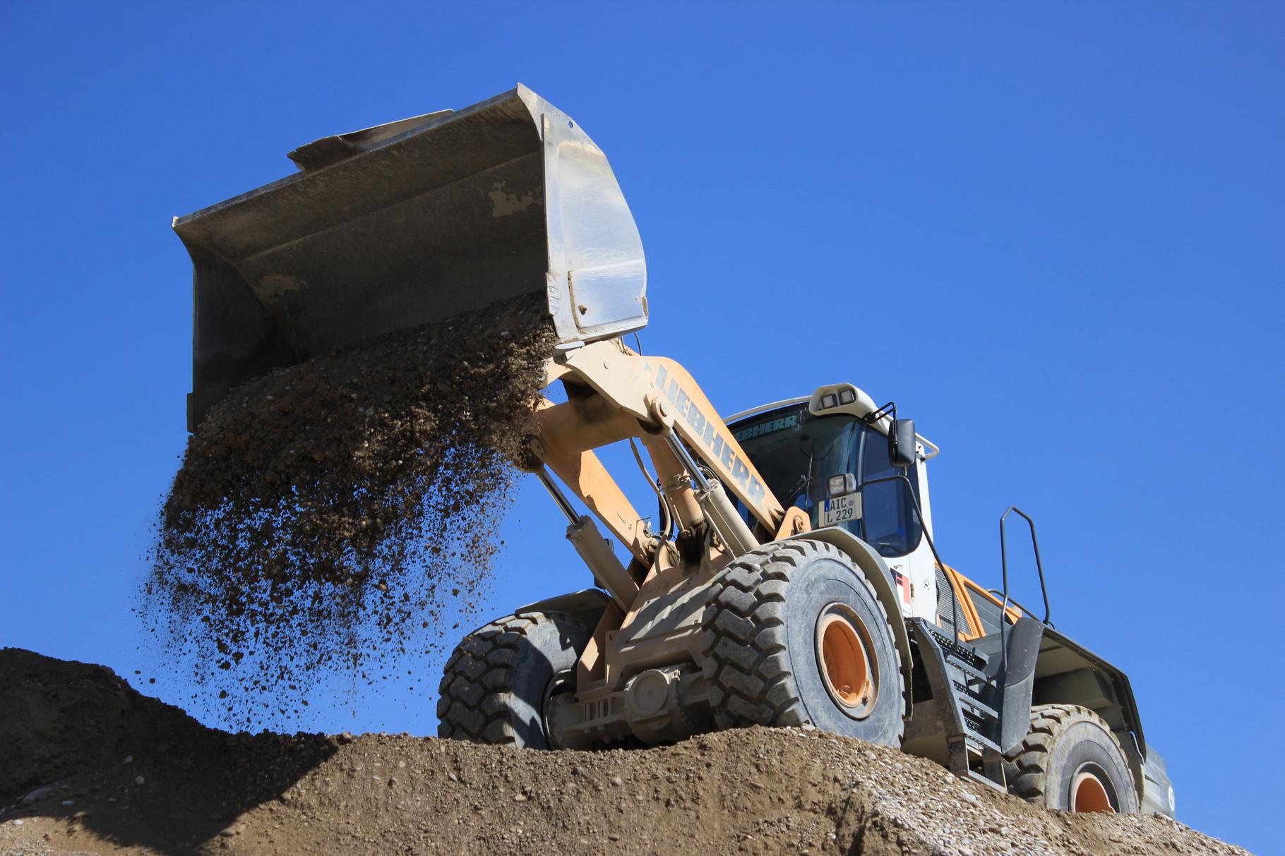 Firmeneigene Sandgrube