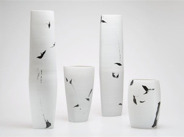 Karin Bablok | Porzellanunikat | gestisch bemalt | Hcm x Bcm