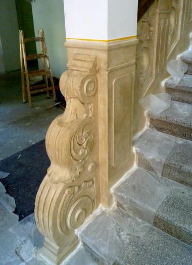 Treppengeländer in Sandsteinoptik III