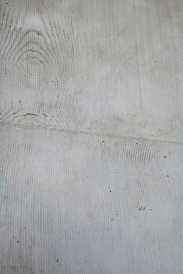 Detail: Betonimitat im Aussenbereich