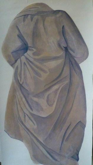 Mantel 0,90 x 0,50 m Wandmalerei