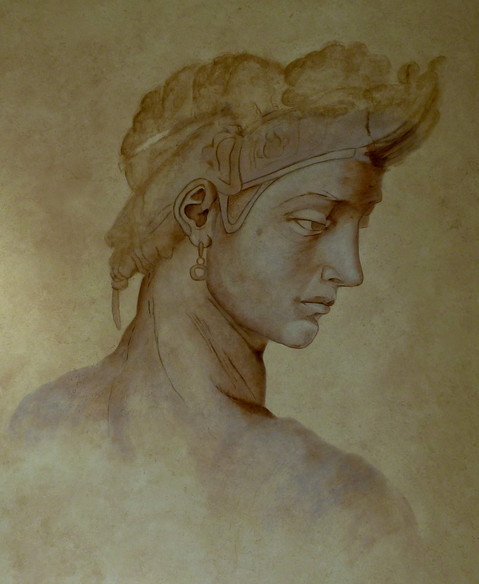 Idealgesicht 1,40 x 1,00 m Wandmalerei