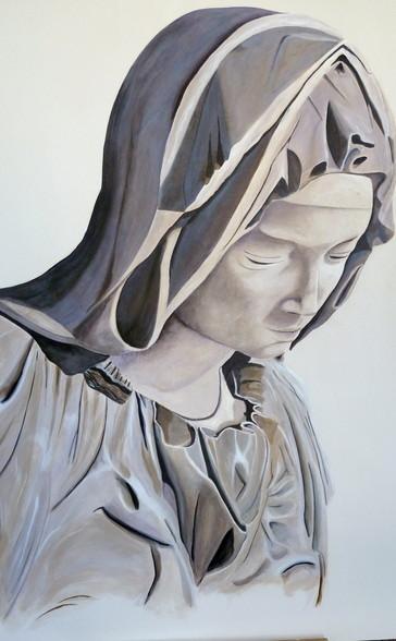 Pieta, 1,40 x 1,00 m Wandmalerei
