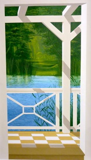 Seeblick I, 2,00x 1,10m Wandmalerei