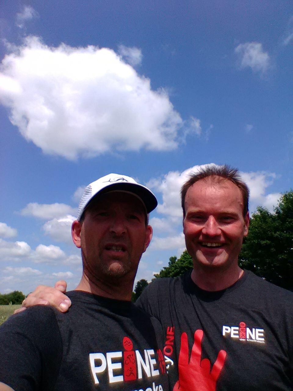 Thomas (2:44) und Rainer (2:30) nach einer traumhaften OD in Peine