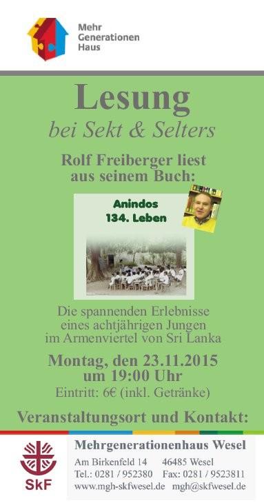 Plakat Mehrgenerationenhaus, Wesel23.11.2015