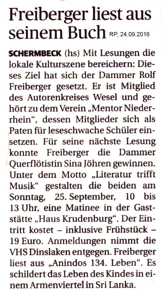 Rezension Lebenszeit, Hünxe, Ausgabe 33/2016