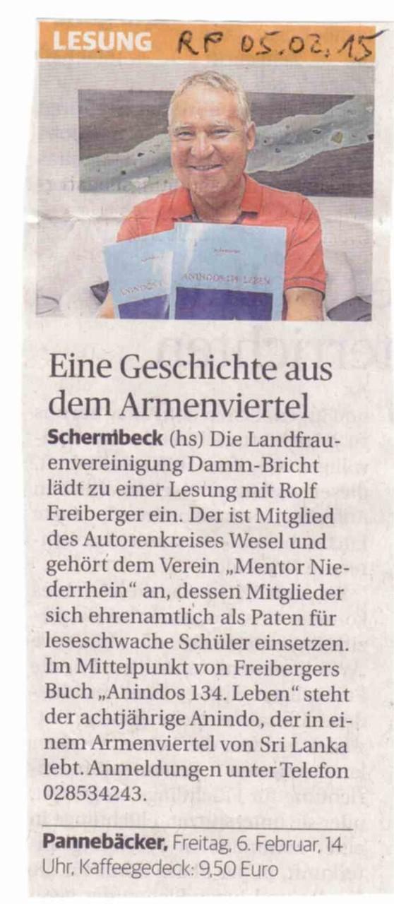 Rheinische Post, 05.02.2015