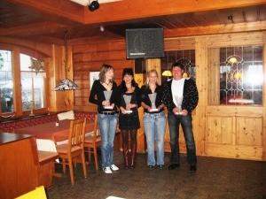 Carmen, Marion, Marina und Tom