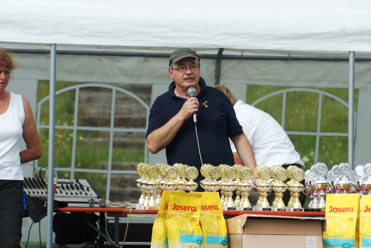 Georg Graf bei der Siegerehrung der Kreismeister