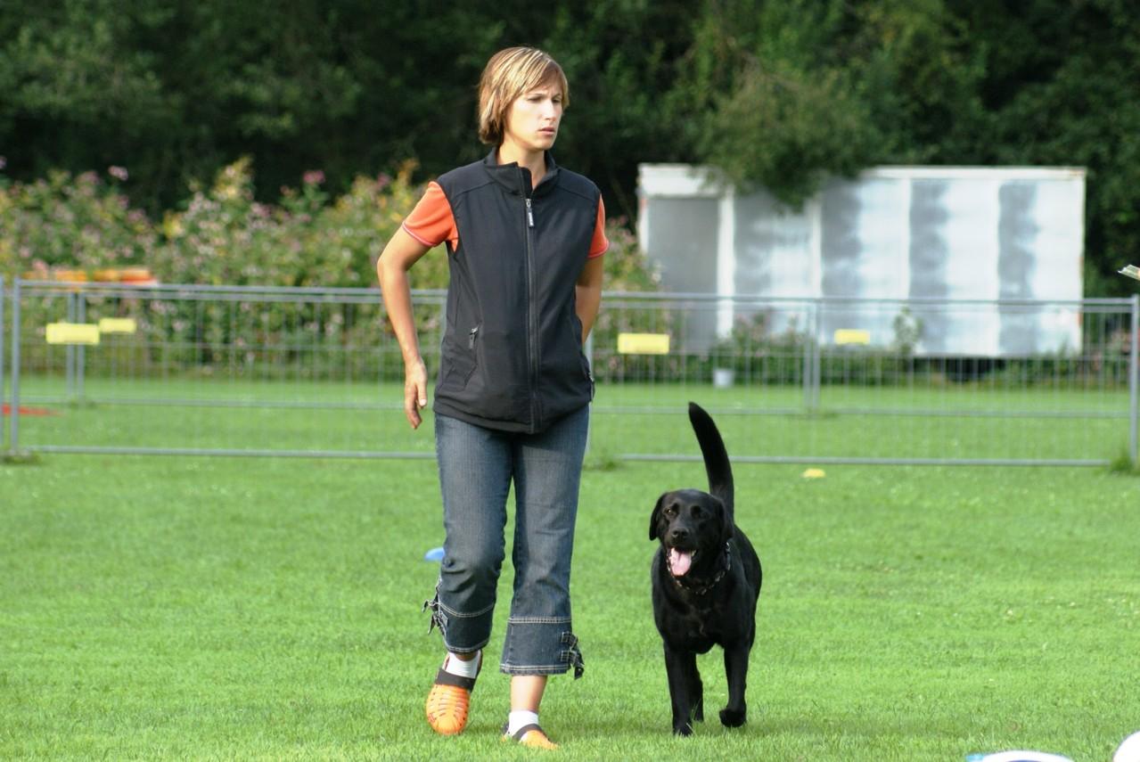 Mel und Jeanie beim OB-Training