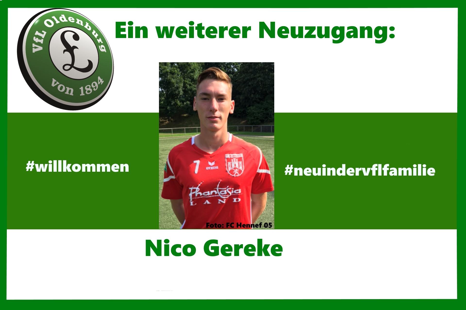 Ein weiterer Neuzugang - Nico Gereke