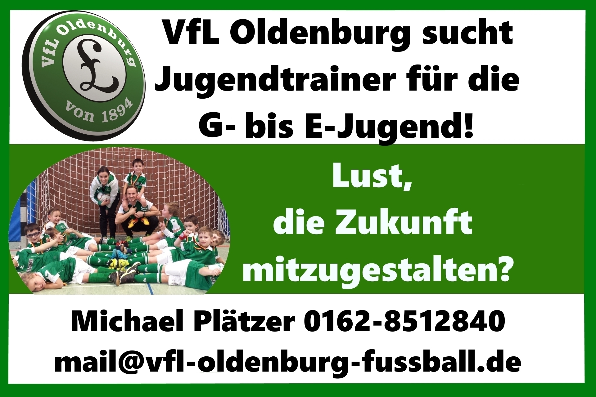 VfL Oldenburg sucht Jugendtrainer für die G bis E-Jugend