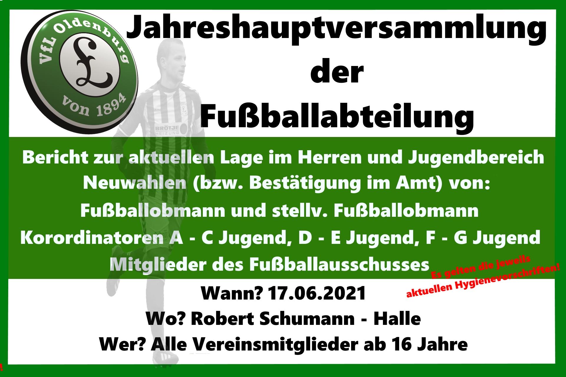 Jahreshauptversammlung der Fußballabteilung