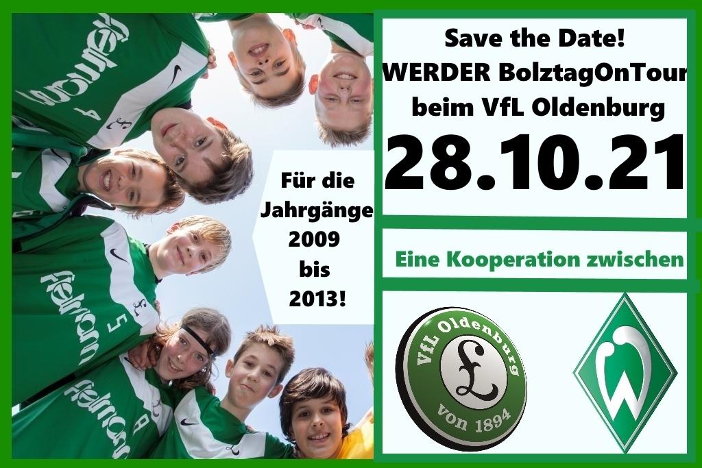 Save the Date! WERDER BolztagOnTour beim VfL Oldenburg