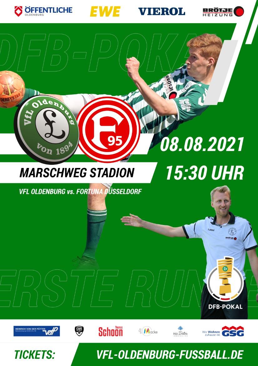 Karten für das Pokal - Spiel gegen Düsseldorf können nun erworben werden