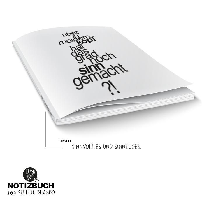 "FUNI SMART ART Notizbuch, Motiv ""Sinn?!"""