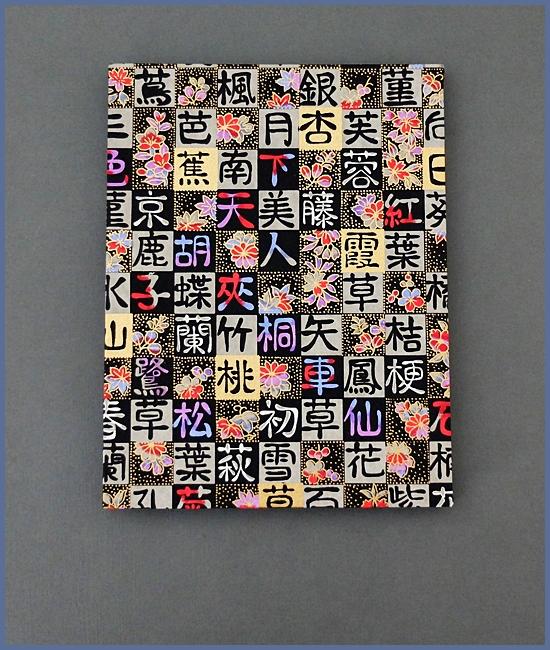 Leporello, Japanisches Chiyogami, schwarzer Karton, 14,- €