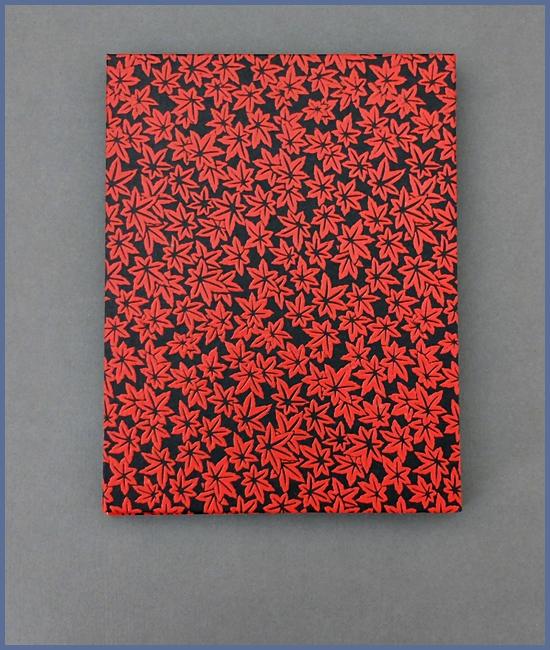 Leporello, Japanisches Urushi-ähnlich, schwarzer Karton, 14,- €