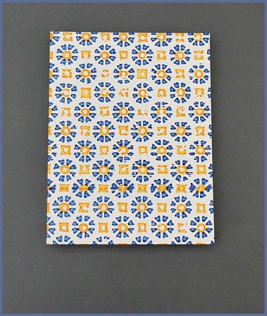 Leporello, Italienisches Buntpapier, weißer Karton, 12,- €