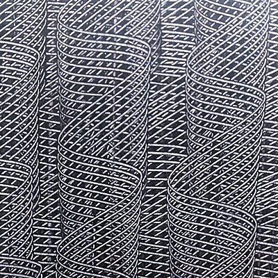 Kleisterpapier mit Verdrängungsdekor Kammzug, © Buntpapier-Manufaktur Tanja Karipidis, Erlangen