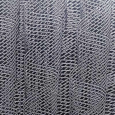 Kleisterpapier mit Verdrängungsdekor Kammzug - KL13, © Buntpapier-Manufaktur Tanja Karipidis, Erlangen