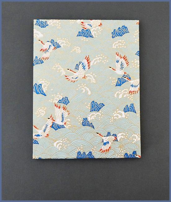 Leporello, Japanisches Chiyogami, weißer Karton, 14,- €