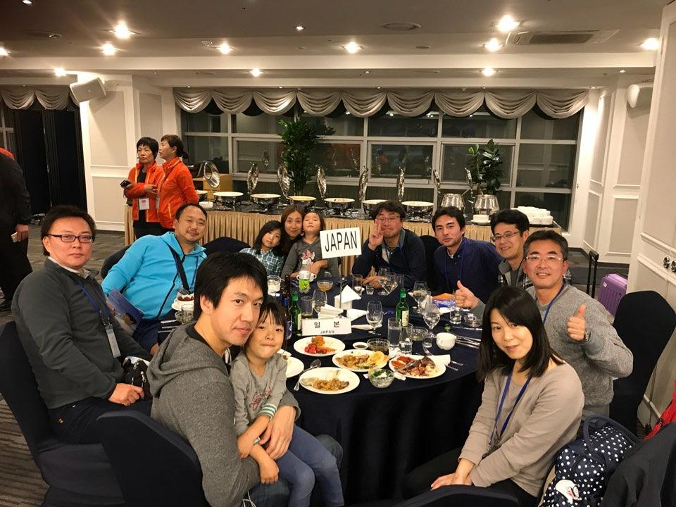 2017年の済州島の国際大会の開会式での日本チーム