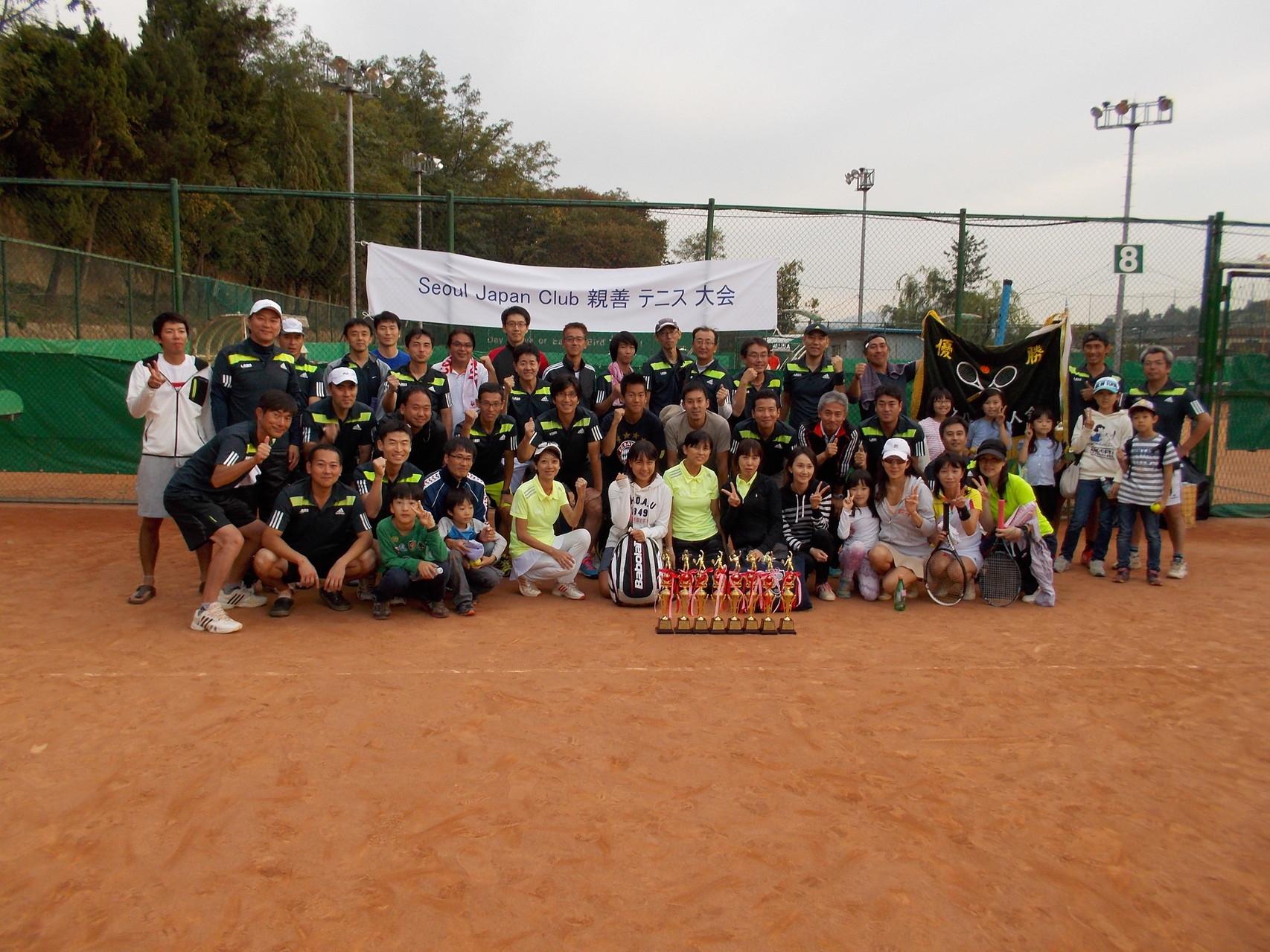 2014年10月 SJCテニス大会、Aクラス優勝!!!