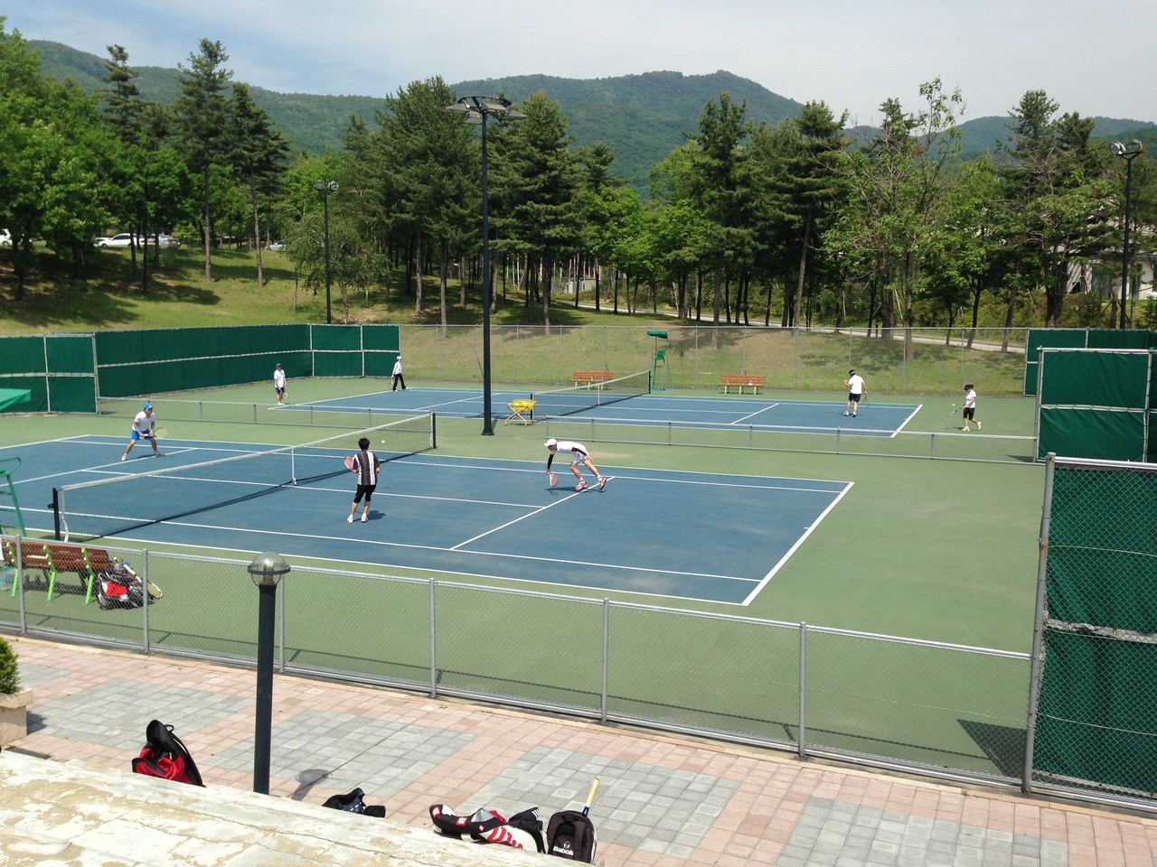2013年6月1日、2日 合宿のテニスコート。