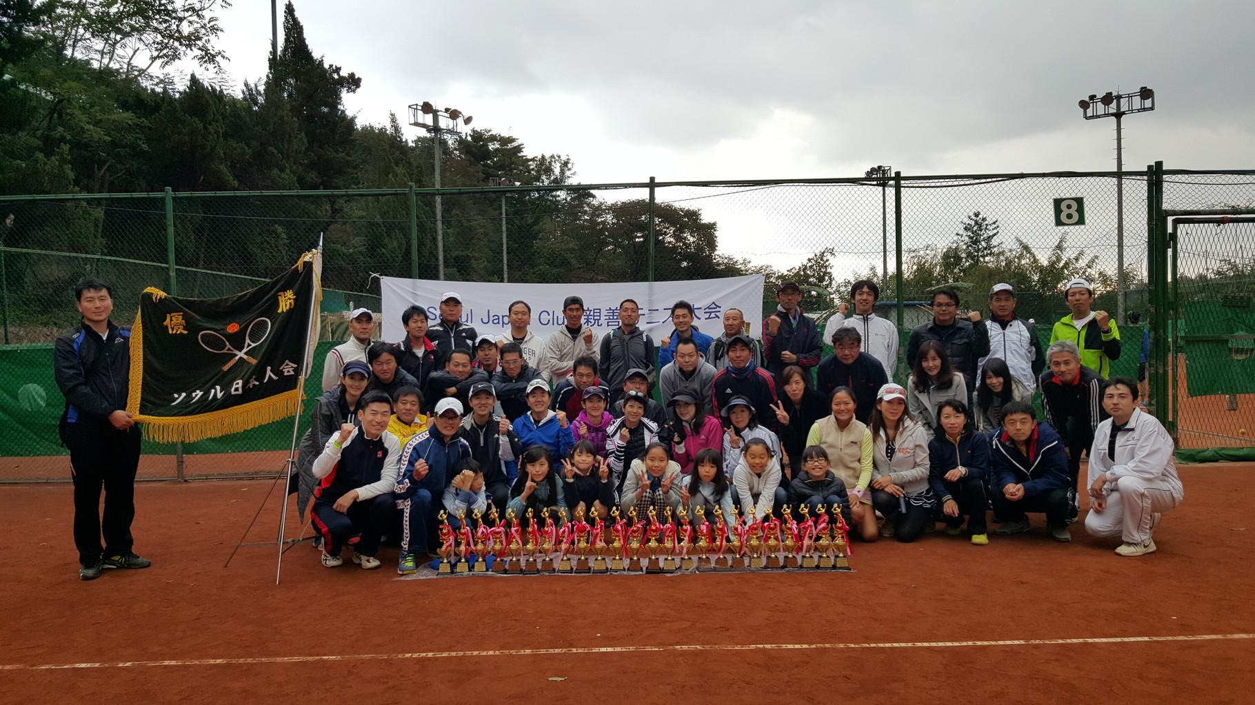2015年10月 SJCテニス大会、A・B・C全クラス優勝!!!