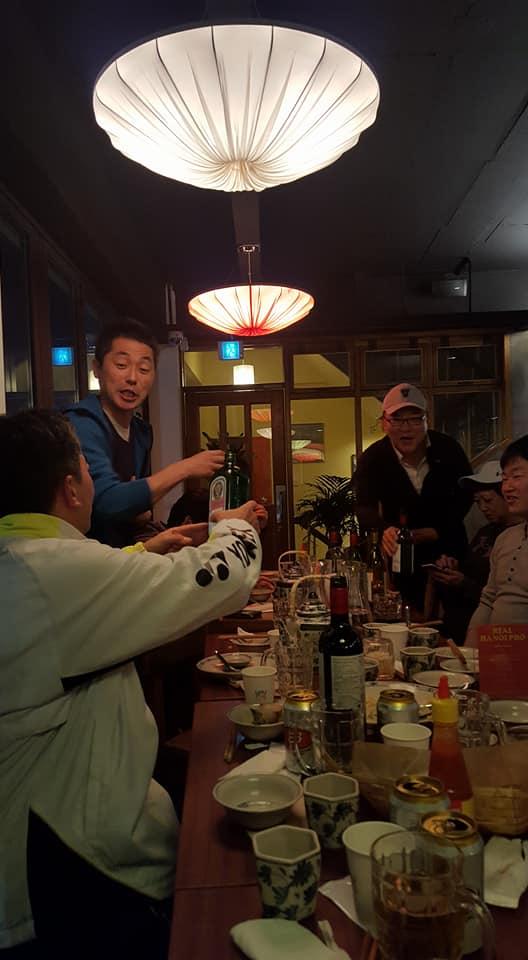 2018年3月 5名の方々の歓送会@TOITOI (緑莎坪駅近く)