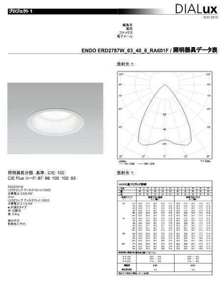 DIALux 照明器具データ表