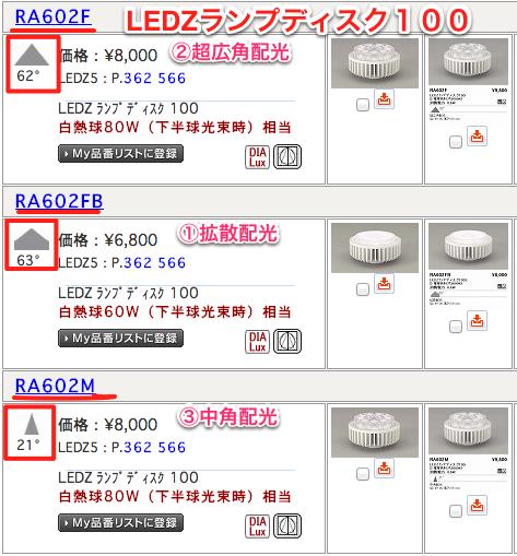 ENDO LEDZランプディスクの種類