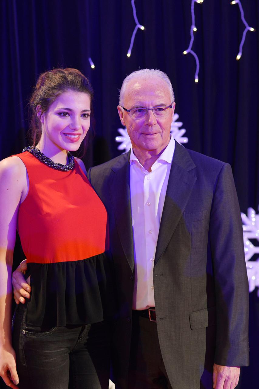 Amina Dagi (Miss Austria 2012) & Franz Beckenbauer